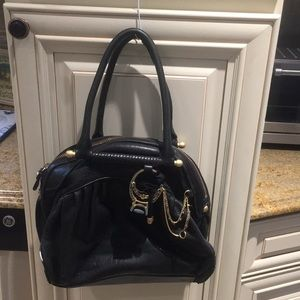 Juicy Couture Leather Handbag with gold ring chain